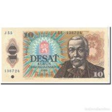 Billetes extranjeros: [#121242] BILLETE, 10 KORUN, 1986, CHECOSLOVAQUIA, KM:94, UNDATED, UNC. Lote 269179898