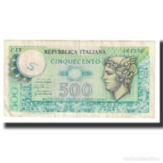 Billetes extranjeros: [#617491] BILLETE, 500 LIRE, 1976, ITALIA, 1976-12-20, KM:94, MBC. Lote 269179978