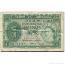 Billetes extranjeros: [#607414] BILLETE, 1 DOLLAR, 1956, HONG KONG, 1956-06-01, KM:324AB, BC. Lote 269181153
