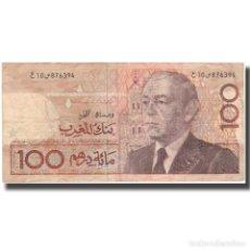 Billetes extranjeros: [#599437] BILLETE, 100 DIRHAMS, MARRUECOS, KM:65A, BC+. Lote 269184273