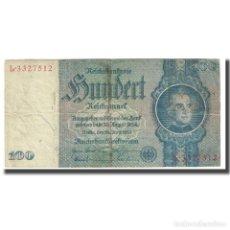 Billetes extranjeros: [#172580] BILLETE, 100 REICHSMARK, 1935, ALEMANIA, 1935-06-24, KM:183A, MBC. Lote 269188118