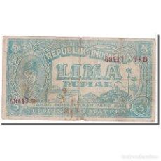 Billetes extranjeros: [#122898] BILLETE, 5 RUPIAH, 1947, INDONESIA, 1947-08-17, KM:S184, RC. Lote 269189338