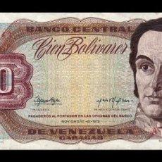 Billetes extranjeros: VENEZUELA 100 BOLÍVARES 1972 PICK 55A SERIE A MBC VF. Lote 269208648