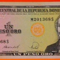 Billetes extranjeros: REP. DOMINICANA, UN PESO ORO, SERIE 1988. SC.PLANCHA. (140). Lote 269210323