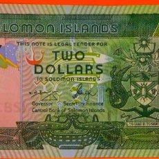 Billetes extranjeros: ISLAS SALOMÓN, DOS DÓLARES, 2013. SC.PLANCHA. (141). Lote 269212473