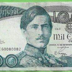 Billetes extranjeros: PORTUGAL BILLETE DE 1000 ESCUDOS 1982. PEDRO V. Lote 269303293
