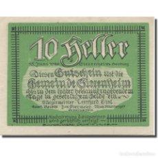 Billetes extranjeros: [#281177] BILLETE, AUSTRIA, SALZBURG, 10 HELLER, MONTAGNE 1920-06-15, SC MEHL:FS 498. Lote 269733738