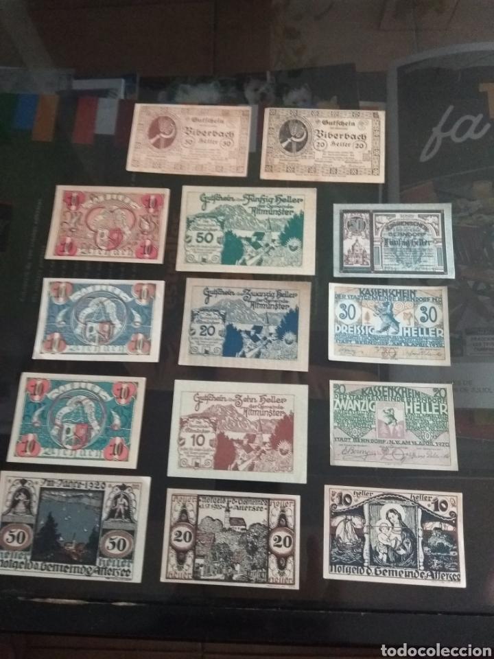 LOTE BILLETES IMPERIO AUSTRIACO AÑOS 1920 (Numismática - Notafilia - Billetes Internacionales)
