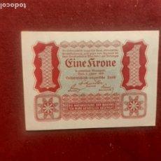Billetes extranjeros: AUSTRIA - 1 KRONE - 2-1-1922 (SC). Lote 270641158