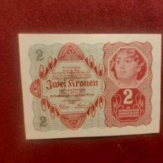 Billetes extranjeros: AUSTRIA 1922, 2 KRONEN, SC. Lote 270641243