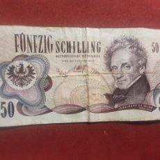 Billetes extranjeros: AUSTRIA. 50 SCHILLING 2.1.1970. Lote 270641523