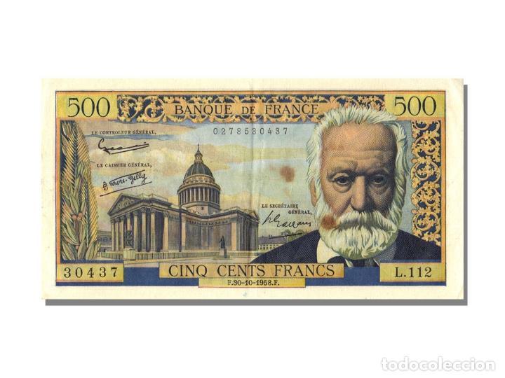 [#22836] BILLETE, FRANCIA, 500 FRANCS, 500 F 1954-1958 ''VICTOR HUGO'', 1958, 1958-10-30 (Numismática - Notafilia - Billetes Internacionales)
