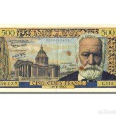 Billetes extranjeros: [#22836] BILLETE, FRANCIA, 500 FRANCS, 500 F 1954-1958 ''VICTOR HUGO'', 1958, 1958-10-30. Lote 271034253