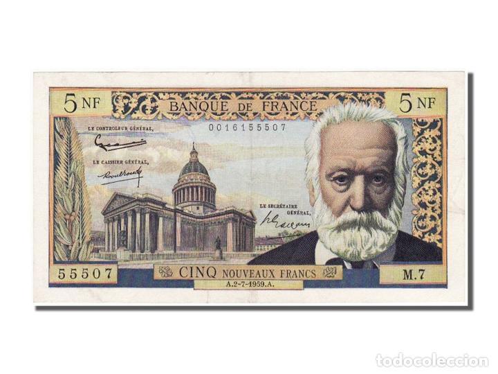 [#100770] BILLETE, FRANCIA, 5 NOUVEAUX FRANCS, 5 NF 1959-1965 ''VICTOR HUGO'', 1959 (Numismática - Notafilia - Billetes Internacionales)
