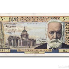 Billetes extranjeros: [#100770] BILLETE, FRANCIA, 5 NOUVEAUX FRANCS, 5 NF 1959-1965 ''VICTOR HUGO'', 1959. Lote 271437208