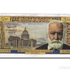 Billetes extranjeros: [#102782] BILLETE, FRANCIA, 5 NOUVEAUX FRANCS, 5 NF 1959-1965 ''VICTOR HUGO'', 1965. Lote 271439373