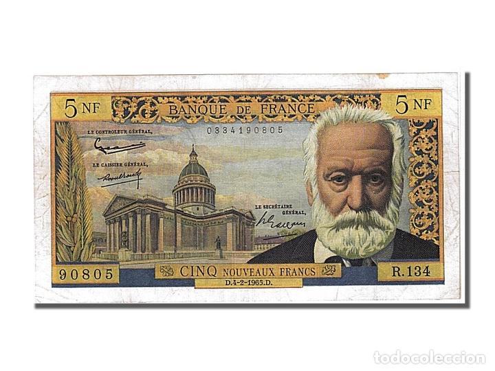 [#102784] BILLETE, FRANCIA, 5 NOUVEAUX FRANCS, 5 NF 1959-1965 ''VICTOR HUGO'', 1965 (Numismática - Notafilia - Billetes Internacionales)