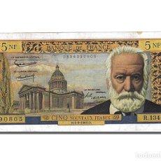 Billetes extranjeros: [#102784] BILLETE, FRANCIA, 5 NOUVEAUX FRANCS, 5 NF 1959-1965 ''VICTOR HUGO'', 1965. Lote 271439383