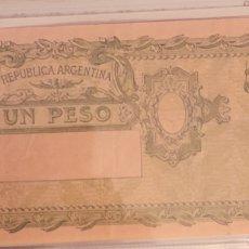 Billetes extranjeros: BILLETE DE ARGENTINA 1 PESO. Lote 271504323