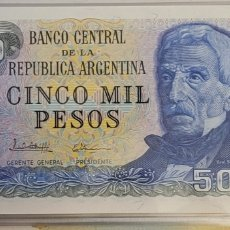 Billetes extranjeros: BILLETE DE ARGENTINA 5000 PESOS. Lote 271504663