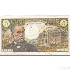 Billetes extranjeros: [#262662] BILLETE, FRANCIA, 5 FRANCS, 1966, 1968-04-04, BC, FAYETTE:61.7, KM:146B. Lote 271620463
