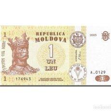 Billetes extranjeros: [#262614] BILLETE, 1 LEU, 1992-1994, MOLDOVA, KM:8G, 2005, UNC. Lote 271620503