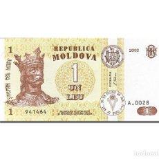 Billetes extranjeros: [#262615] BILLETE, 1 LEU, 1992-1994, MOLDOVA, KM:8F, 2002, UNC. Lote 271620518