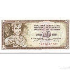 Billetes extranjeros: [#262653] BILLETE, 10 DINARA, 1968-1970, YUGOSLAVIA, KM:82C, 1968-05-01, SC. Lote 271620568