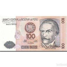 Billetes extranjeros: [#262737] BILLETE, 100 INTIS, 1985-1991, PERÚ, KM:133, 1987-06-26, UNC. Lote 271620588