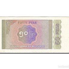 Billetes extranjeros: [#262950] BILLETE, 50 PYAS, 1991-1998, MYANMAR, KM:68, UNDATED (1994), EBC. Lote 271620613