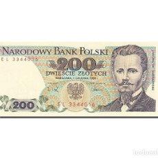 Billetes extranjeros: [#262988] BILLETE, 200 ZLOTYCH, 1974-1976, POLONIA, KM:144C, 1988-12-01, UNC. Lote 271620628