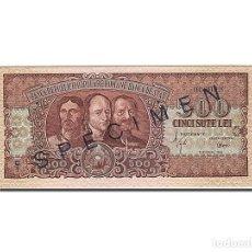 Billetes extranjeros: [#262955] BILLETE, 500 LEI, 1949-1952, RUMANÍA, KM:86S, 1949-10-15, UNC. Lote 271620753