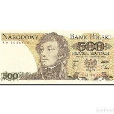 Billetes extranjeros: [#262986] BILLETE, 500 ZLOTYCH, 1974-1976, POLONIA, KM:145D, 1982-06-01, UNC. Lote 271620773