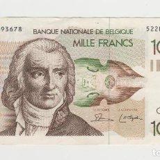Billetes extranjeros: BELGICA- 1000 FRANCOS- 180-1996. Lote 271862678