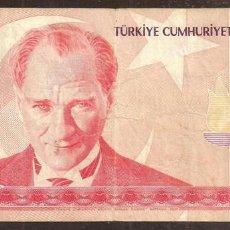 Billetes extranjeros: TURQUIA. 10 LIRAS NUEVAS 2005. PICK 218. SERIE A 01.. Lote 274252193
