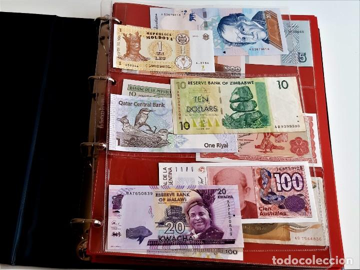 Billetes extranjeros: ALBUM CON 174 BILLETES ORIGINALES VARIOS DEL MUNDO - Foto 6 - 275096853