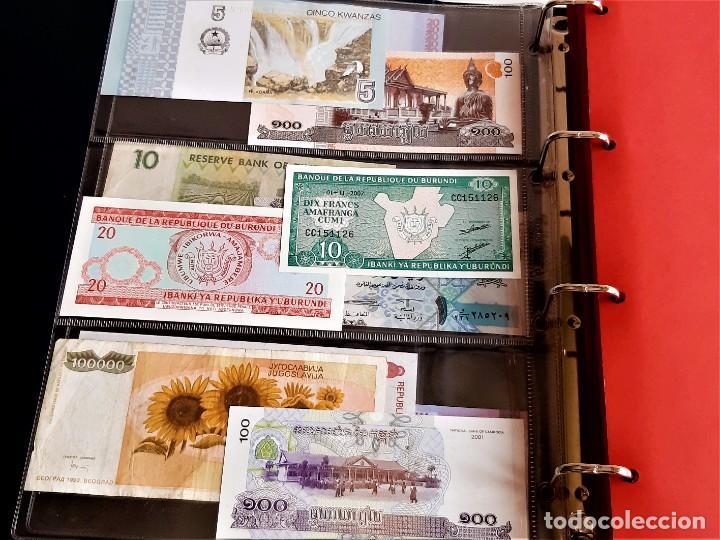 Billetes extranjeros: ALBUM CON 174 BILLETES ORIGINALES VARIOS DEL MUNDO - Foto 7 - 275096853