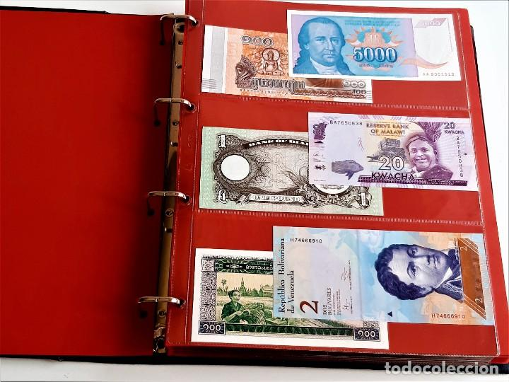 Billetes extranjeros: ALBUM CON 174 BILLETES ORIGINALES VARIOS DEL MUNDO - Foto 8 - 275096853