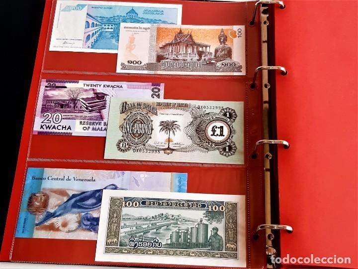 Billetes extranjeros: ALBUM CON 174 BILLETES ORIGINALES VARIOS DEL MUNDO - Foto 9 - 275096853