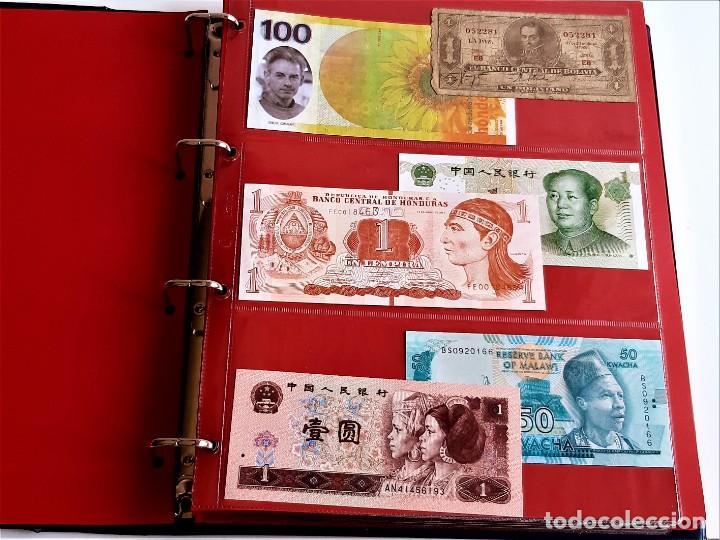 Billetes extranjeros: ALBUM CON 174 BILLETES ORIGINALES VARIOS DEL MUNDO - Foto 10 - 275096853