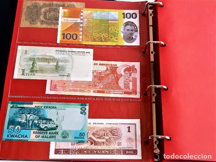 Billetes extranjeros: ALBUM CON 174 BILLETES ORIGINALES VARIOS DEL MUNDO - Foto 11 - 275096853