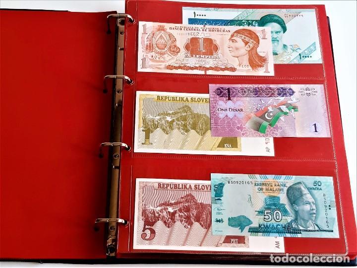 Billetes extranjeros: ALBUM CON 174 BILLETES ORIGINALES VARIOS DEL MUNDO - Foto 12 - 275096853