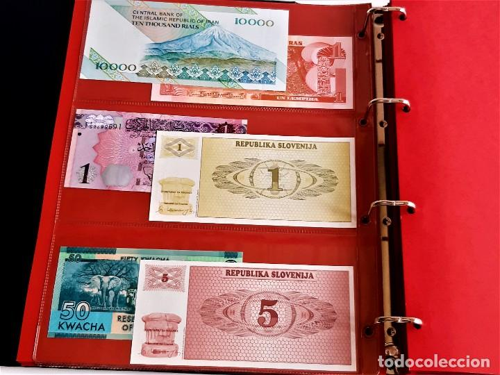 Billetes extranjeros: ALBUM CON 174 BILLETES ORIGINALES VARIOS DEL MUNDO - Foto 13 - 275096853