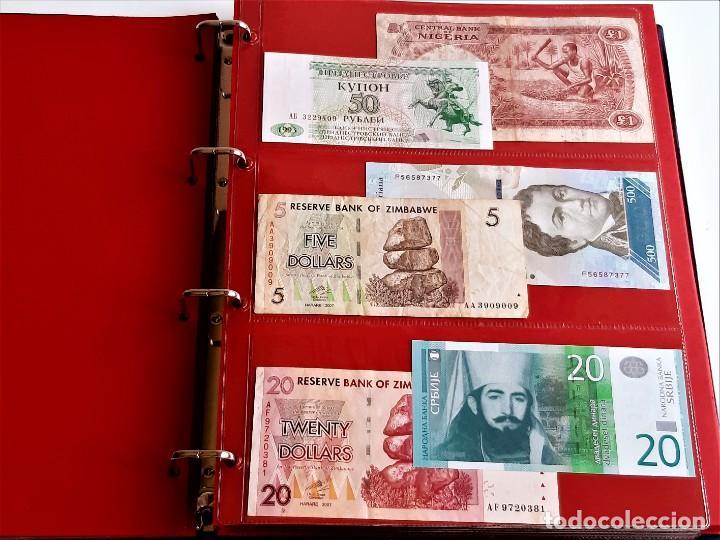 Billetes extranjeros: ALBUM CON 174 BILLETES ORIGINALES VARIOS DEL MUNDO - Foto 16 - 275096853