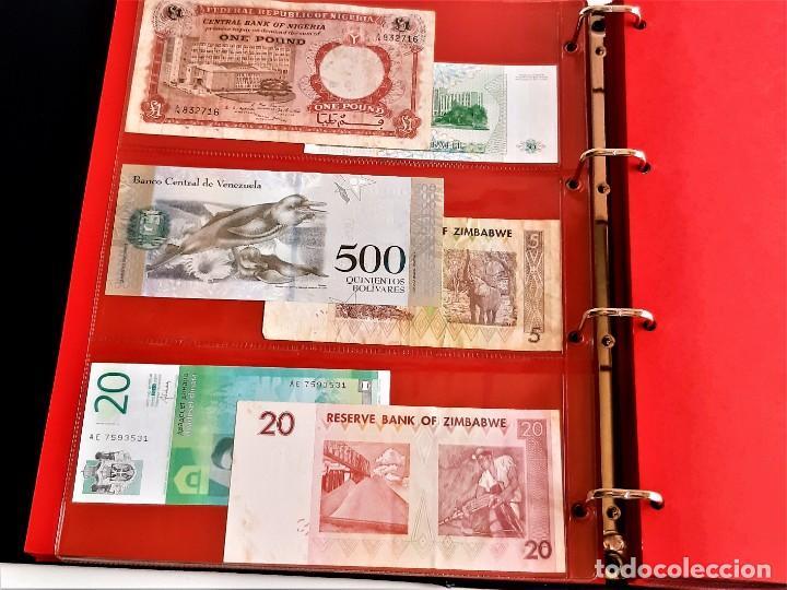 Billetes extranjeros: ALBUM CON 174 BILLETES ORIGINALES VARIOS DEL MUNDO - Foto 17 - 275096853