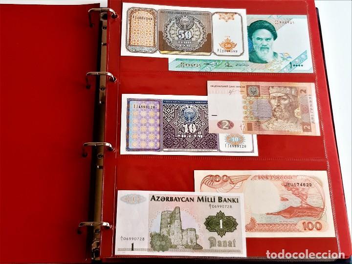 Billetes extranjeros: ALBUM CON 174 BILLETES ORIGINALES VARIOS DEL MUNDO - Foto 18 - 275096853
