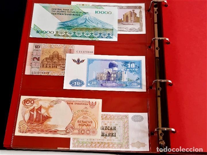 Billetes extranjeros: ALBUM CON 174 BILLETES ORIGINALES VARIOS DEL MUNDO - Foto 19 - 275096853