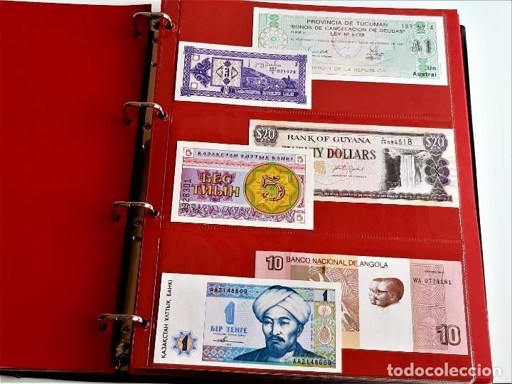 Billetes extranjeros: ALBUM CON 174 BILLETES ORIGINALES VARIOS DEL MUNDO - Foto 20 - 275096853
