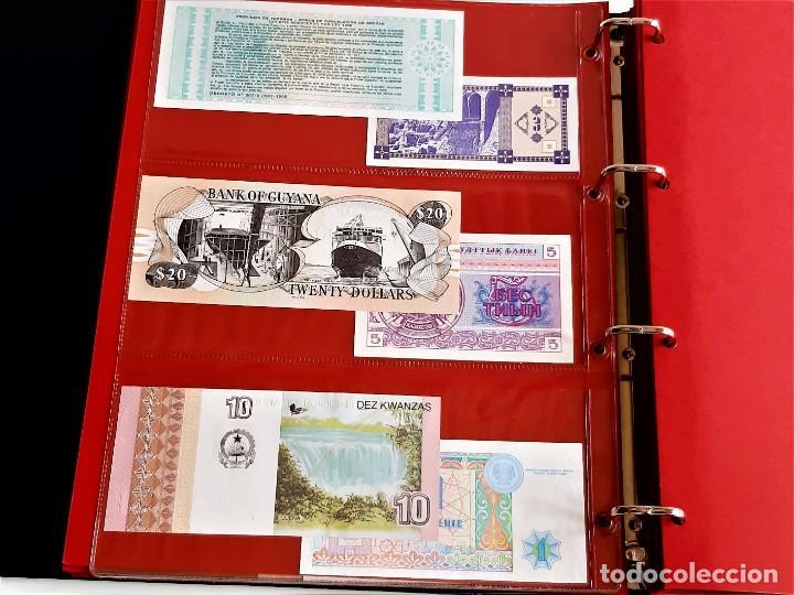 Billetes extranjeros: ALBUM CON 174 BILLETES ORIGINALES VARIOS DEL MUNDO - Foto 21 - 275096853