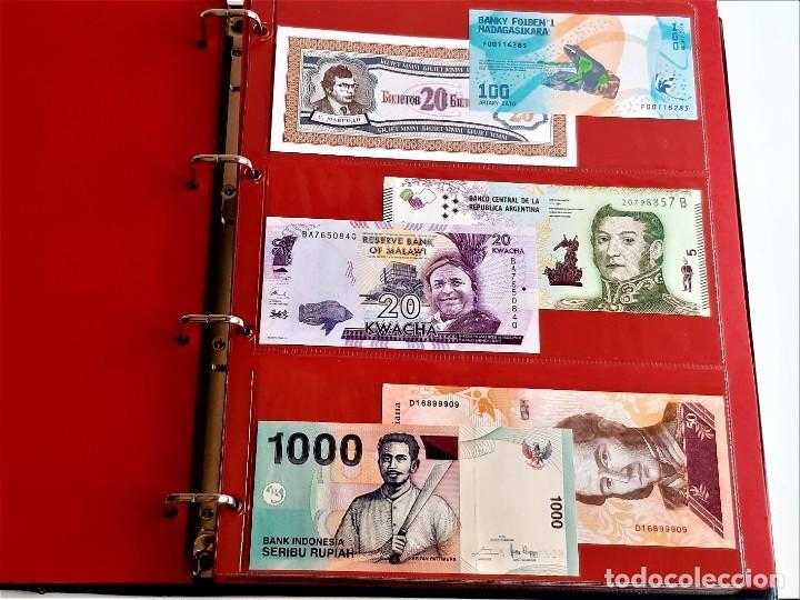 Billetes extranjeros: ALBUM CON 174 BILLETES ORIGINALES VARIOS DEL MUNDO - Foto 22 - 275096853